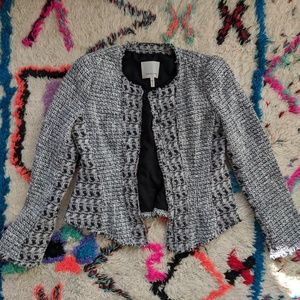 Rebecca Taylor Tailored Tweed Blazer